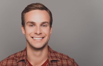 Single man with white teeth smiling Johns Creek, GA