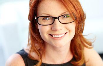 Smiling woman with glasses Johns Creek, GA