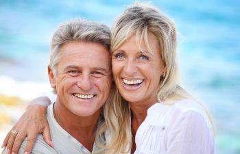 Smiling old couple Johns Creek, GA