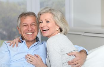 Older Couple Smiling,